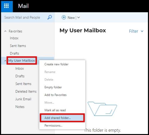 shared mailbox owa access step 2