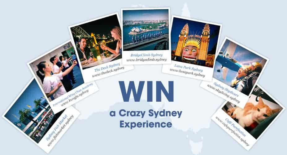 win a crazy sydney experience promo from crazydomains